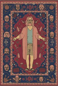 """""""That rug really ties the room together, does it not?"""" -The Dude (The Big Lebowski) """"That rug really ties the room together, does it not?"""" -The Dude (The Big Lebowski) Big Lebowski Rug, O Grande Lebowski, Big Lebowski Poster, Movies And Series, Cult Movies, Comic Movies, Dudeism, Comic Style, Eclectic Rugs"""
