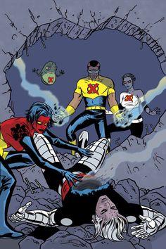 X-Statix Cover: Mr. Sensitive, The Anarchist, Doop and X-Statix by Clayton Crain Marvel Comics Poster - 61 x 91 cm Mike Allred, Comic Art Community, Comic Poster, Man Character, Comic Artist, Marvel Characters, New Wave, Comic Books Art, X Men