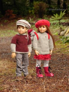 """Windermere PDF Slim 18"""" Doll Clothes a Unisex Jersey/Sweater knitting pattern designed to fit Kidz n' Cats dolls by Debonair Designs by DebonairsDesigns on Etsy https://www.etsy.com/listing/205803607/windermere-pdf-slim-18-doll-clothes-a"""