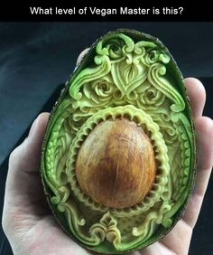 Fruit Carving Designs That Will Leave You Mesmerized Enjoy Curated Just For Fun and Sharing! beautiful fruit carving in an avocado - Forget pumpkin carving, the fruit carving trend is where it's at. It's grown in popularity over the years and the results Food Carving, Pumpkin Carving, Avocado Art, Avocado Food, Avocado Rice, Ripe Avocado, Beautiful Fruits, Beautiful Beautiful, Carving Designs