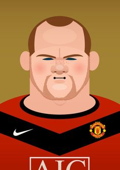 "Wayne Rooney ""Wazza ""by Stanley Chow Soccer Players, Football Soccer, Retro Football, Football Stuff, Stanley Chow, High Fashion Hair, Style Fashion, Wayne Rooney, Sports Art"