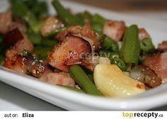 Zelené fazolky na slanince recept - TopRecepty.cz
