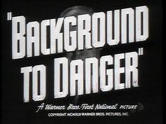 BACKGROUND TO DANGER | Warner Bros. trailer typography