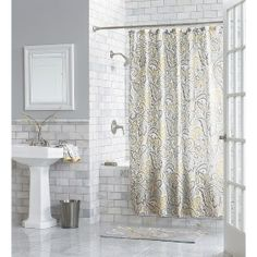 Threshold™ Paisley Shower Curtain - Yellow : Target Mobile