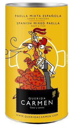 Paella mixta española.  Spanish mixed paella