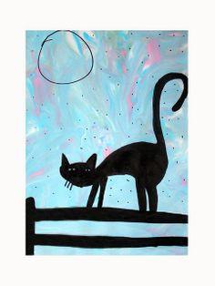 cat for October art - cute