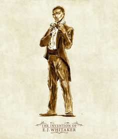 """Character Design of protagonist, William, from the steampunk comic adventure, """"The Invention of E.J. Whitaker.""""    Created by Shawnee� & Shawnelle Gibbs   Art by Mark Hernandez   Vintage, African American, Victorian, 1900's, Suit, Man, Elegant, Steampunk, Comics"""