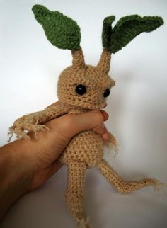 A crocheted mandrake...What could be more charming?