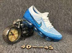 How To Buy Nike Air Vapormax mens shoes White Blue Sneakers New York Fashion, Milan Fashion Weeks, Runway Fashion