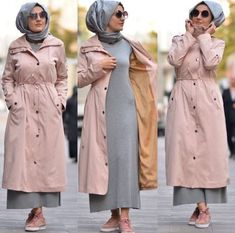 Coat with matched dress-Casual brownish outfits with hijab – Just Trendy Girls Stylish Hijab, Casual Hijab Outfit, Hijab Chic, Casual Dresses, Muslim Fashion, Modest Fashion, Hijab Fashion, Fashion Dresses, Fashion Fashion