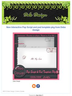 "New ""Kiss Envelope"" script/template package  Check out this Mad Mimi newsletter"