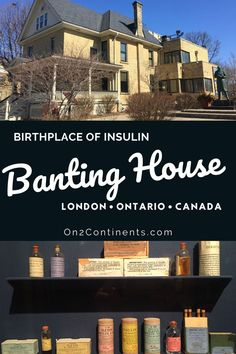 When you visit London, ON, check out this interesting and educational museum dedicated to Frederick Banting, the discoverer of insulin. Banting House | National Historic Site in London ON | museum visit | Birthpalce of insulin | Insulin discovery | Things to do in London Ontario | Where to go with kids in London ON | museums in London ON #ldnont #bantinghouse #swontario #canada #diabetes #insulindiscovery #frederickbanting Frederick Banting, Things To Do In London, Historical Sites, Where To Go, Museums, Family Travel, Ontario, Discovery, Diabetes