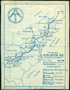 I'm loving this hand-drawn map of the Appalachian Trail. From Georgia to Maine—either 5 inches or miles, depending on how you think of it.Via: Oh, Pioneer! FOR THE MAP LOVERS OUT THERE. Appalachian Trail Map, Trail Maps, Thru Hiking, Hiking Trails, Hiking Maps, Camping, Backpacking, Photos Voyages, Adventure Is Out There