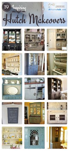 Lilacs and Longhorns: 19 Great Hutch Makeovers {Favorite Things Friday}
