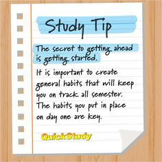 Study Tip - Creating Good Study Habits Study Tips For Students, School Study Tips, School Tips, Effective Study Tips, Good Study Habits, Student Studying, College Teaching, Learning Techniques, Time Management Skills
