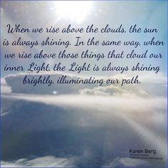 Preserving the light above the clouds, Karen Berg