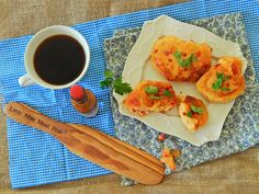 Little Miss Meat-Free: Roasted Red Pepper Brunch Fritters with chipotle