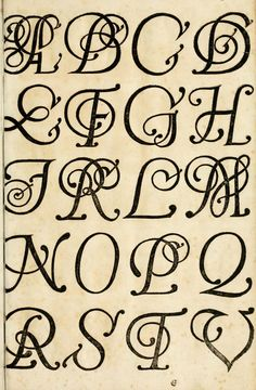 Typography - Alphabet - Old German - Alphabet A, Calligraphy Alphabet, Calligraphy Fonts, Creative Lettering, Cool Lettering, Lettering Styles, Hand Lettering, Vintage Lettering, Initial Letters