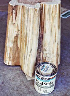 Art & Mañas » DIY: Troncos de árbol convertidos en mesitas auxiliares