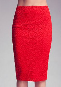 Bebe Lace Pencil Skirt - I needed this for the Red Party!