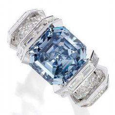 Cartier Sky Blue Diamond Ring #jewelrydiamond