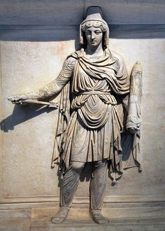 A representation of Parthia, Roman relief (marble), 2nd century AD, (Museo Archeologico Nazionale, Naples).