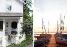 An MGPB swedish inspired summer cottage in Chautauqua Institution as seen in Victoria Magazine. July/August 2015.