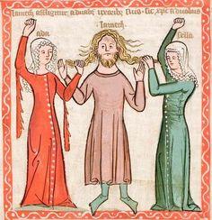 Speculum humanae salvationis, c. 1360, Hs 2505, f. 57r, Universitäts- und Landesbibliothek Darmstadt.