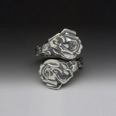 Rose Spoon Ring I totally want!!!! I'm obsessed with roses!