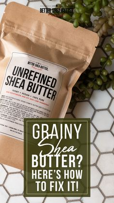What is grainy shea butter? What are those little sand-like beads that sometimes form on your wonderfully whipped body butter, homemade lip balm or other butter-rich product? Those grains are parts or molecules of your butter that cooled off faster than the rest. They have separated and have cooled off quickly, while the rest of your product has cooled off at a different temperature. Natural Skin Moisturizer, Unrefined Shea Butter, Homemade Lip Balm, Whipped Body Butter, Fix You, The Balm, Grains, Snack Recipes, Rest