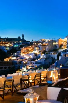 Santorini Greece | Fira by night, Santorini, Greece