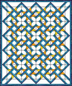 Cool quilt block pattern, I think it would look amazing using red, black, white...
