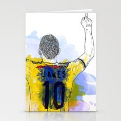 james rodriguez 10 Stationery Cards by Alan fe