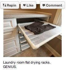 air drying rack in laundry room
