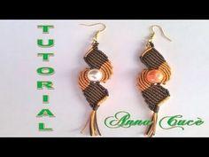 "Tutorial macramè orecchini ""Diana""/ Tutorial macramè earrings ""Diana""/ Diy tutorial - YouTube"