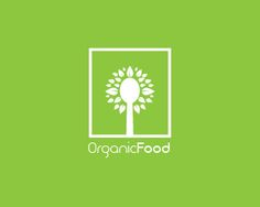 OrganicFood logo #logo #organic #food # #monogram #spoon #leaf