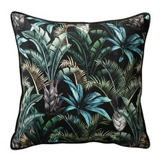 We love a tropical scene here at rigby & mac and this dramatic wild flora print cushion is one of our Floral Cushions, Green Cushions, Printed Cushions, Velvet Cushions, Scatter Cushions, Throw Pillows, Box Cushion, Cushion Pads, Velvet Stool