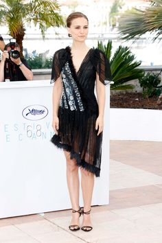 May 17 2015: She wore a dress from the Rodarte autumn/winter 2015 collection to the photocall for [i]A Tale Of Love And Darkness<i/> at the Cannes Film Festival.