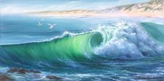 'Lonely Beach' Karen Malmgren Artist Oil on canvas