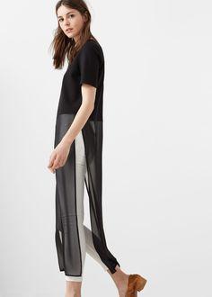 Flowy long blouse - Shirts for Women | MANGO USA