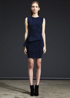 Midnight blue cocktail dress from Cut 25
