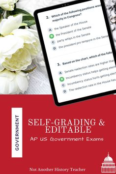 Accelerate and engage your AP Government and Politics students' with this online distance learning Unit Tests! This product contains 8 editable and self-grading Socrative tests that are sure to engage your students. The government bundle is sure to lead your students to success and engage them in the content. Perfect for distance learning! #government #distancelearning #highschoolgovernment #notanotherhistoryteacher