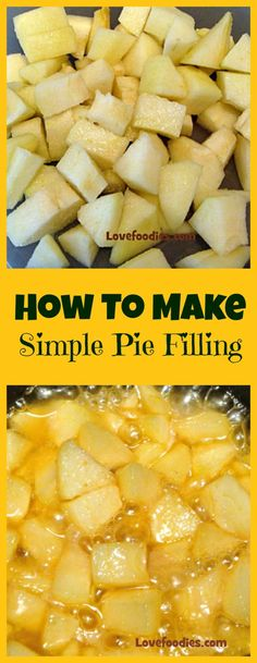 How To Make A Simple Fruit Pie Filling 2 recipes one. How To Make A Simple Fruit Pie Filling 2 recipes one for How To Make A Simple Fruit Pie Filling 2 recipes one for regular filling and one for a CARAMEL filling. Fruit Recipes, Apple Recipes, Dessert Recipes, Cooking Recipes, Chicken Recipes, Salsa Dulce, Classic Kitchen, Easy Pie, Simple Pie