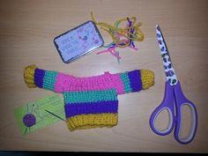 knitted teddy bear jumper. :-)