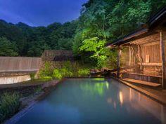 乳頭温泉郷 妙乃湯:混浴露天風呂 金の湯と銀の湯