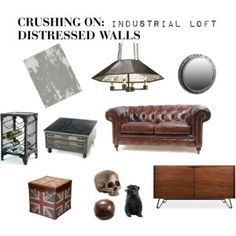 Crushing On: Distressed Walls: Industrial Loft