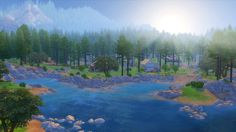 Can't wait to go camping here!!!! Granite Falls looks amazing <3 #thesims