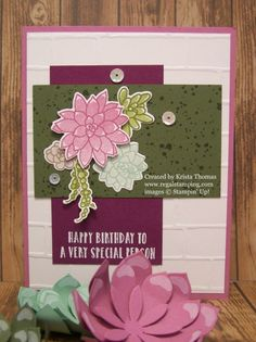 Oh So Succulent card by Krista Thomas, www.regalstamping.com, all products by Stampin' Up!