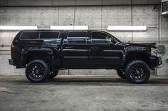 Black Chevy Silverado.