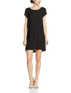 UK 8, Black - Noir (02 Noir), Suncoo Women's Calici Short Sleeve Dress NEW